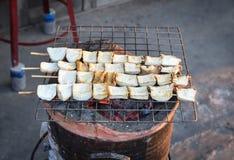 Mushroom bamboo plug grill Royalty Free Stock Images
