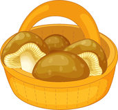 Mushroom basket Royalty Free Stock Photography