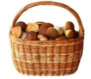 Mushroom basket Stock Photos
