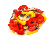 Mushroom and bell pepper Royalty Free Stock Image