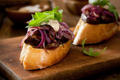Mushroom Bruschetta Royalty Free Stock Photos