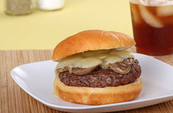 Mushroom Burger Stock Photography