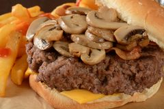 Mushroom burger Stock Photos
