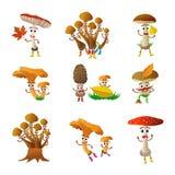 Mushroom cartoon character Royalty Free Stock Image