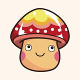 Mushroom cartoon theme elements vector,eps Stock Photography