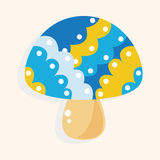 Mushroom cartoon theme elements vector,eps Stock Image
