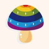 Mushroom cartoon theme elements vector,eps. Vector illustration file Stock Photos