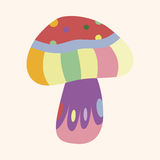 Mushroom cartoon theme elements vector,eps Royalty Free Stock Photography