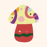 Mushroom cartoon theme elements vector,eps. Vector illustration file Royalty Free Stock Images