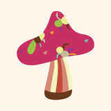 Mushroom cartoon theme elements vector,eps Stock Photos