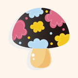 Mushroom cartoon theme elements vector,eps Royalty Free Stock Photography