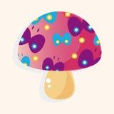 Mushroom cartoon theme elements vector,eps Royalty Free Stock Images
