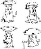 Mushroom cartoons Stock Image