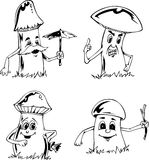 Mushroom cartoons Stock Photo