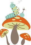 Mushroom Caterpillar Royalty Free Stock Image