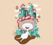 Mushroom character design Stock Image