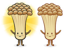 Mushroom characters to promote Vegetable selling. Fungus Charact Stock Images