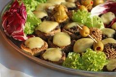 Mushroom and Cheese Stock Image