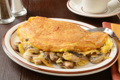 Mushroom cheese omelet Royalty Free Stock Images