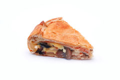 Mushroom-cheese pie isolated Stock Image