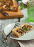 Mushroom and cheese tart Stock Photography