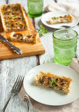 Mushroom and cheese tart Stock Photo