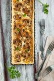 Mushroom and cheese tart Royalty Free Stock Image