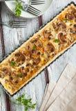 Mushroom and cheese tart Stock Images