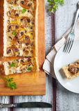 Mushroom and cheese tart Stock Image