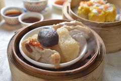 Mushroom chicken dim sum Stock Images