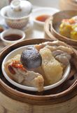 Mushroom chicken dim sum Royalty Free Stock Photos