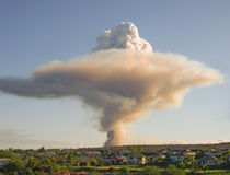 Mushroom cloud royalty free stock image