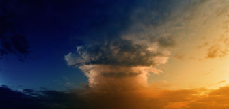 Mushroom cloud Stock Photography