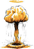 Mushroom Cloud royalty free illustration