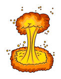 Mushroom cloud, nuclear explosion,  vector symbol icon design. Stock Images