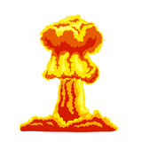 Mushroom cloud sign. Mushroom cloud. Orange and red illustration on a white background Royalty Free Stock Photography