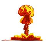 Mushroom cloud sign Stock Images