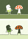 Mushroom colored cartoon Royalty Free Stock Photos