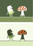 Mushroom colored cartoon Royalty Free Stock Photos