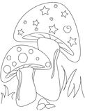 Mushroom coloring page Royalty Free Stock Photography