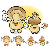 Mushroom couple characters to promote Vegetable selling. Fungus Stock Photo