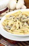Mushroom cream and pasta Stock Image