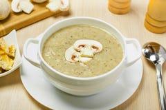 Mushroom cream soup royalty free stock images