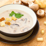 Mushroom cream soup Stock Photo