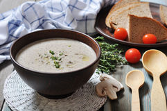 Mushroom cream soup Royalty Free Stock Photography