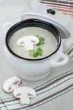 Mushroom cream soup. In the pot Royalty Free Stock Photos
