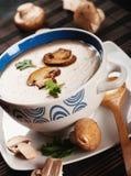 Mushroom cream soup Royalty Free Stock Image