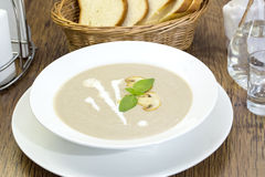 Mushroom cream soup Stock Photos