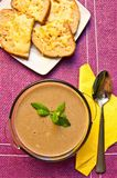 Mushroom cream soup  Stock Images