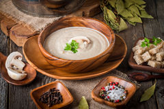 Mushroom cream soup Royalty Free Stock Photography